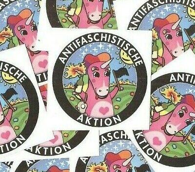 25x Antifa Einhorn Aufkleber stickers Punk Antinazi Gegen Nazis Antifa 161 GNWP