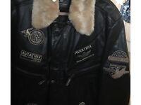 Aviantrix leather coat
