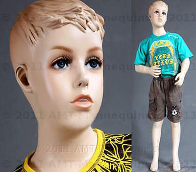 Child Mannequin Manikin Fiber Glass Boy 45 Manequin - Sky