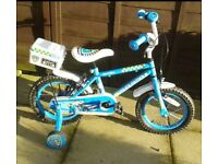 "Boys police bike 14"" frame"