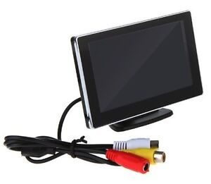 "4.3"" LCD Monitor with Stand For Backup Camera"