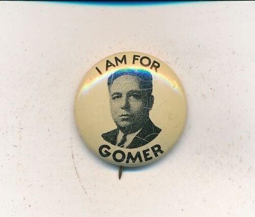 "1936 Gomer Smith for U.S. Senate 7/8"" litho Oklahoma OK campaign button"