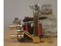 HOT IRONS SOLID BRASS JONSEY STYLE TATTOO MACHINES POWER LINER AND SHADER , £125 EACH OR £245