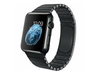 42mm Apple watch with space black strap