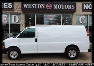 2009 Chevrolet Express Cargo Van G2500* 4.8L* A/C* ACC FREE* SHE