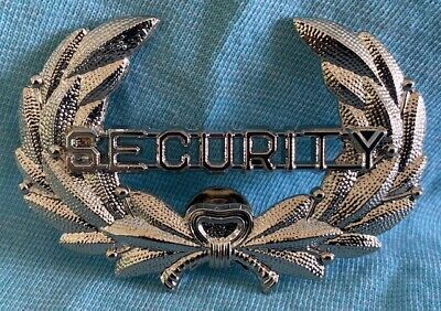 Very Bright Silver Color Classic Security Hat Cap Jacket Badge Pin B4