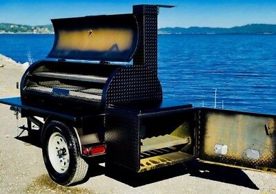 Reverse Flow Bbq Smoker Brand New