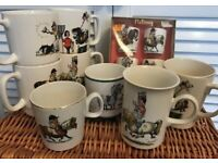 COLLECTION OF VINTAGE THELWELL POTTERY MUGS AND EGG CUPS ITEMS RARE!