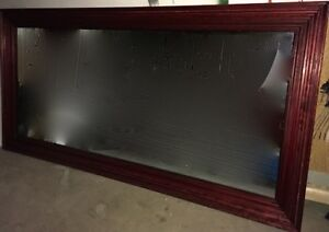 Handcrafted cherry stained oak mirror 8x4