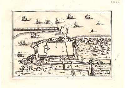 Antique map, Calais