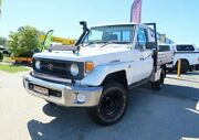 1995 Toyota Landcruiser HZJ75RP White 5 Speed Manual Cab Chassis Woodridge Logan Area Preview