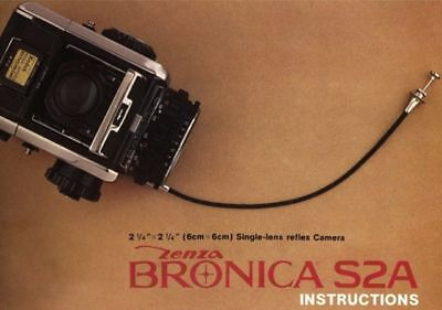 ZENZA BRONICA S2A CAMERA INSTRUCTION MANUAL FREE SHIP