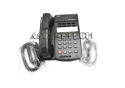 Nec Dterm Series Iii Black Eight Button Basic Non Display Office Phone Etj-8-2