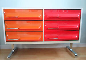 Vintage Antique Retro Dresser / Space Age Designer 1970s