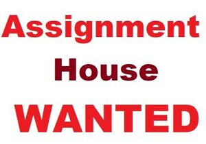 House Wanted  on  Assignment