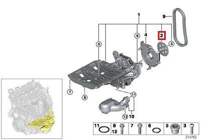 Genuine BMW E60N E61N E81 E82 E83N E84 E87N Oil pump Sprocket OEM 11417798019