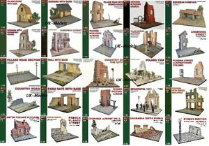 Miniart-1-35-WWII-Diorama-Building-w-Base