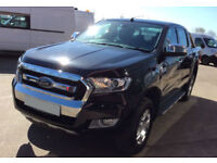 Black Ford Ranger 2.2TDCi 4x4 1 2016MY Limited FROM £77 PER WEEK!