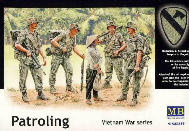 MB Masterbox - US Patroling Vietnam Patrolie 5 Figures 1:35 Model Kit NEW