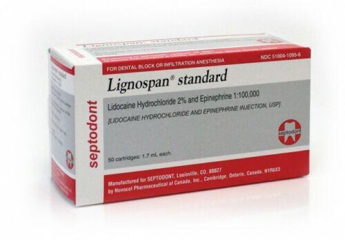 Lignospan Lidocaine 2% with Epinephrine 1:100,000 Local Anesthetic, Box of 50