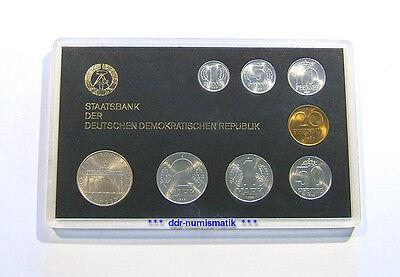 Bankfrischer DDR-Münzsatz 80er Jahre + BBT *** in Original-Kassette !