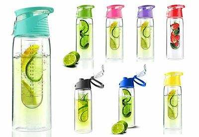 Asobu Pure Flavour 2 Go Reusable Fruit Infuser Infusion Water Bottle Tritan 20Oz