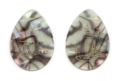 Pink Floyd David Gilmour Signature Mother Of Pearl Promotional Guitar Pick 2016