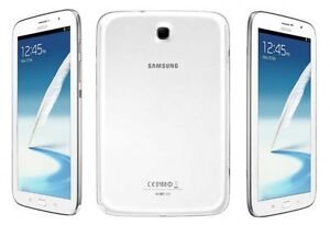 Samsung Galaxy Note 8.0 (16GB, White) + Book Cover Stand Case