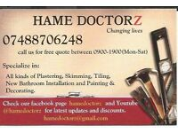 we deal in plastering and skimming , complete bathroom installation ,plumbing, painting & decorating