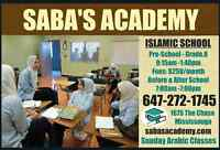 FULL TIME ISLAMIC SCHOOL @ SABA'S ACADEMY -REGISTRATIONS OPEN !!