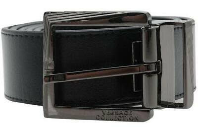 Versace Collection men's belt - Made in Italy, Removable Buckle, Running small*