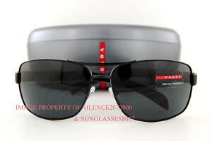 Brand-New-Prada-Sport-Linea-Rossa-Sunglasses-PS-54I-54IS-1BO-1A1-BLACK-for-Men