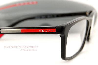 New Prada Sport Linea Rossa Eyeglasses Frames PS 02C 02CV 1AB BLACK 55mm Men