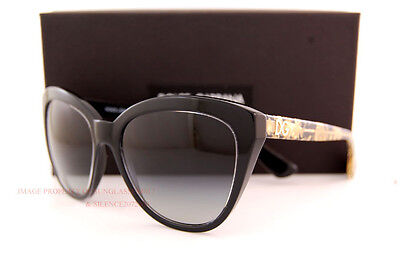 Brand New Dolce & Gabbana Sunglasses DG 4250 2917/8G Black/Gradient Grey Women
