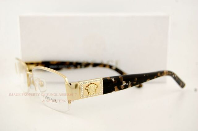 versace eyeglasses frames 1175b 1002 gold sz 53 for