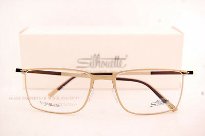 new silhouette eyeglass frames titan contour 5445 6053 gold men women size 56