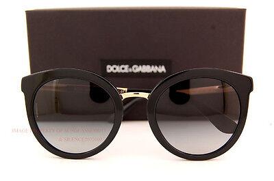 Brand New Dolce & Gabbana Sunglasses DG 4268 501/8G Black/Gradient Grey