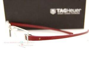 Brand-New-TAG-Heuer-Eyeglass-Frames-Track-Rimless-7103-018-SILVER-BURGUNDY
