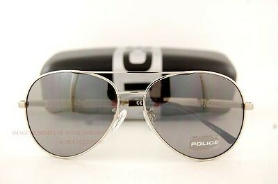 Brand New POLICE Sunglasses S 8746M 589X Ruthenium/Mirrored Grey  for Men