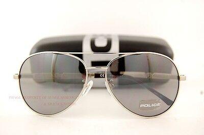 Brand New POLICE Sunglasses S 8746M 589X Ruthenium/Mirrored Grey  for Men