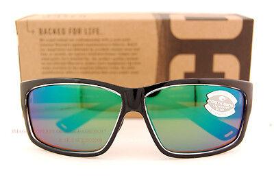Costa Del Mar Fishing Sunglasses CUT SQUALL Black Green Mirror 580G POLARIZED