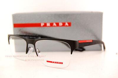 Brand New Prada Sport Linea Rossa Eyeglass Frames PS 55FV DG0 MATTE BLACK Men