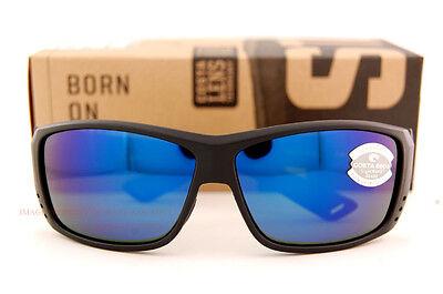 New Costa Del Mar Fishing Sunglasses CAT CAY Blackout Blue Mirror 580G POLARIZED