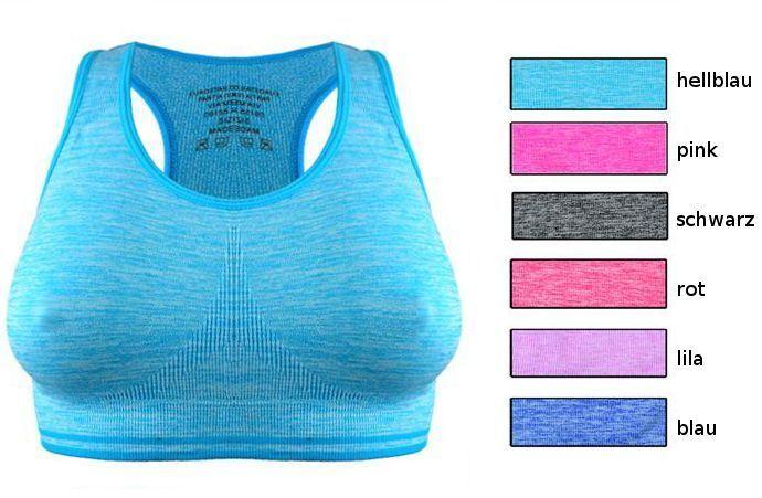 Damen Sport BH Sporttop Fitness Top Sportbh Yoga Short Soft-Bustier 34 36 38 40