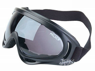 UV400 PROTECTION POLYCARBONATE DARK LENS MOTORCYCLE  JET SKI PADDED GOGGLES on Rummage