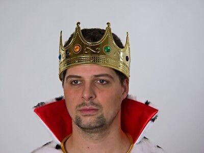 FM - Königskrone für Erwachsene Krone zum König Kostüm Karneval Fasching