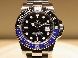 "Rolex GMT Master ii - Blue & Black (""Batman"")"
