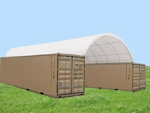 20X20 SEA CONTAINER SHELTER STORAGE SHELTER FOR 20FT CONTAINERS