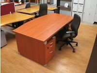 Office desk high end with bow front