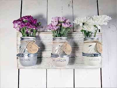 Mason Jar Wall Art diy: mason jar vase wall art | ebay